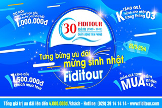 fiditour tưng bừng ưu đãi mừng sinh nhật