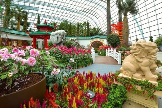 Việc xây dựng Flower Dome