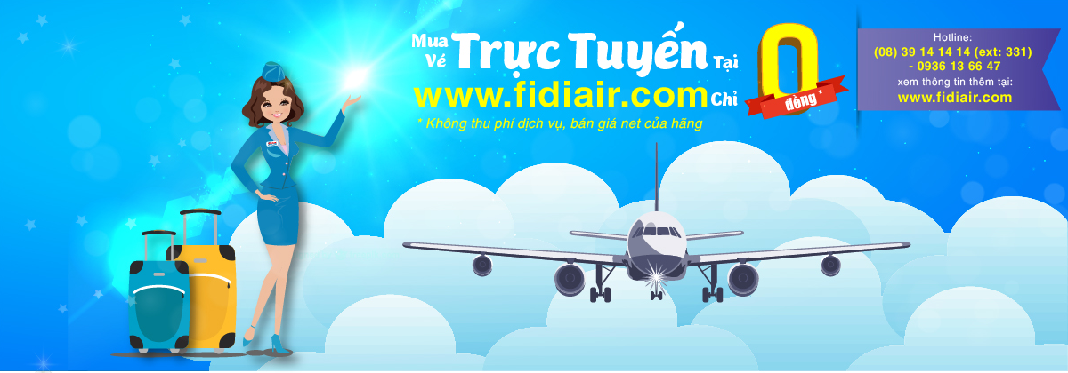 Mua vé trực tuyến trên Fidiair với giá 0 đồng
